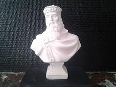 charlemagne buste en plâtre de moulage statuette deco