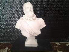 Henri IV buste en plâtre de moulage statuette deco