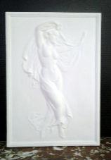 bas relief danseuse staff plâtre moulage art déco tableaux