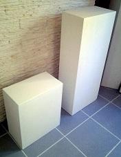 Piliers colonnes staff plâtre socle sculpture déco art moulage stèle
